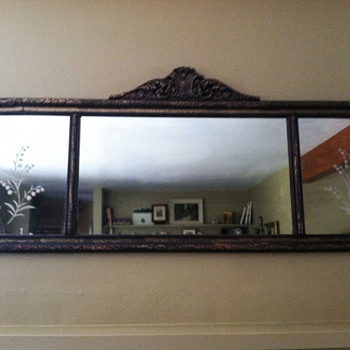 Antique mantel mirror - mission accomplished