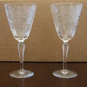 Brierley Crystal Glass Goblets - Glassware