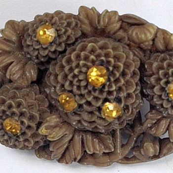 Bakelite Brooch, Unique - Costume Jewelry