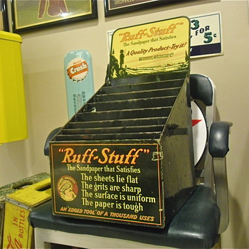 Ruff Stuff Sandpaper Tin Display 30s? 40s? - Advertising