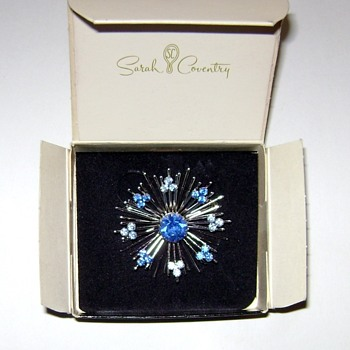 Vintage Sarah Coventry - Blue Snowflake Brooch