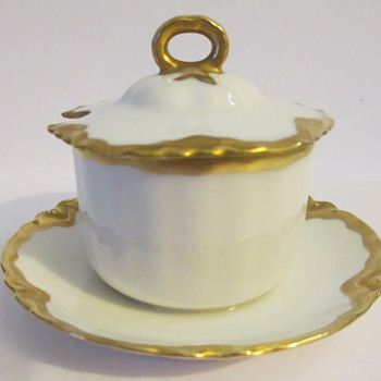 Haviland France Ranson Mustard Pot rare item Mint Condition - China and Dinnerware