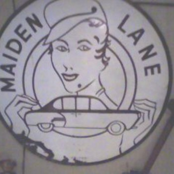 Unusual Porcelain Sign - Maiden Lane - Signs