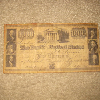 1000 DOLLAR BILL - US Paper Money