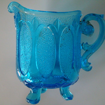 Victorian era pressed glass creamer - unknown
