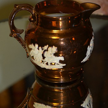 Another Copper Luster Pitcher - Art Pottery