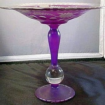 Tall Compote, Purple & Crystal, So Pretty
