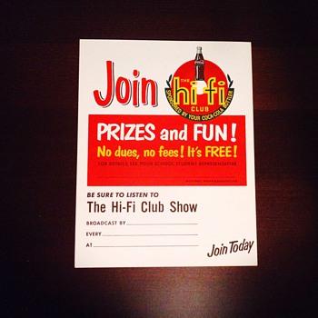 Hi Fi Club Paper Posters