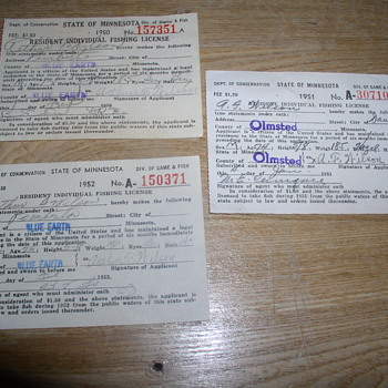 1950 1951 1952 Fishing permits rules regulations
