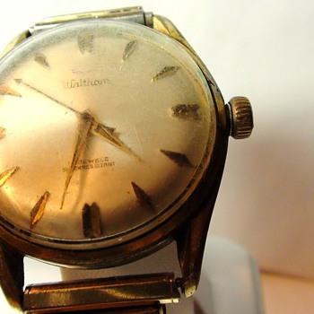 Waltham Watch Vintage Gold Plated Working ShockResistant AGE Please Advise? - Wristwatches