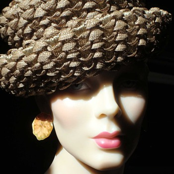 A great 60s Woven Rayon Derby - Hats