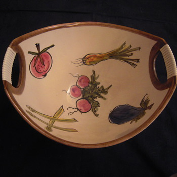 TWO SALAD PLATES  - Art Pottery
