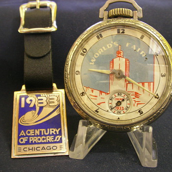 1933 Chicago World's Fair Pocket Watch & Fob
