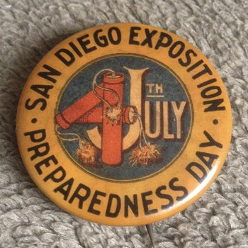 Panama Pacific Exposition 1915 Pinback Buttons - Medals Pins and Badges