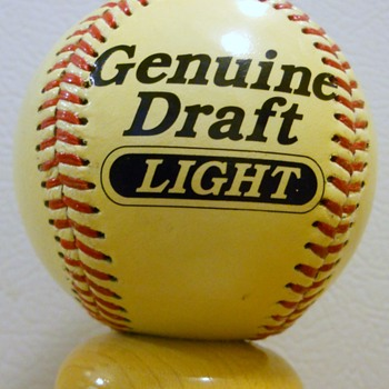 Genuine Draft Light Baseball Tap Handle. Error?