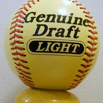 Genuine Draft Light Baseball Tap Handle. Error?