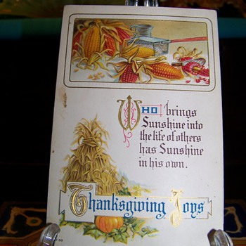 Happy Thanksgiving All - Postcards