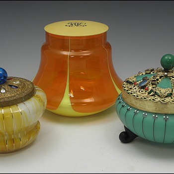 "Three Bohemian ""Powder"" Jars"