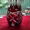 Cut To Clear Czech Lead Crystal Bud Vases & Basket
