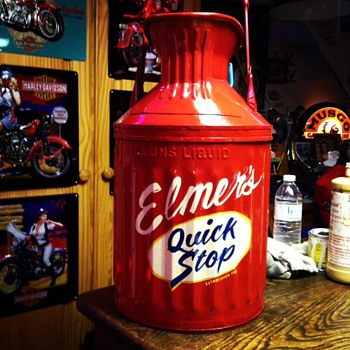 Restored Five Gallon Oil & Water Cans...Pinstriped & Lettered  By Jeff Stewart