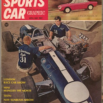 1967 Sports Car Graphic Magazine - Paper