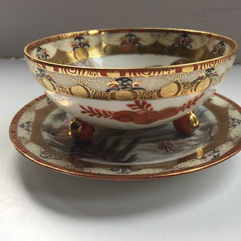 Royal Nippon footed bowl and saucer