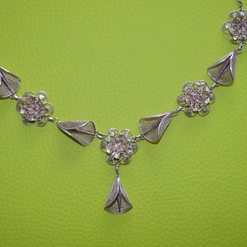Vintage? cannetille necklace