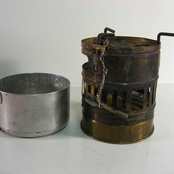 WWI Swedish portable stove &amp; m1919 piece