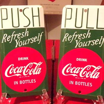 1950's Coca-Cola Small Tin Signs