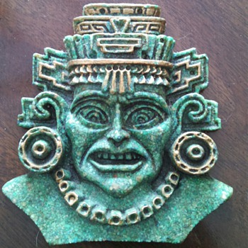 Turquoise Chip Face Plaque
