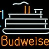 Budweiser Paddle Boat Neon
