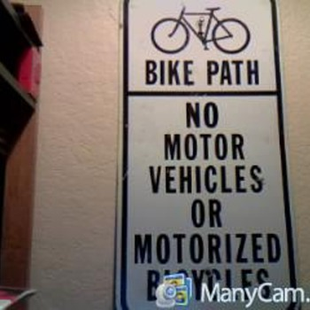 bike path sign - Advertising