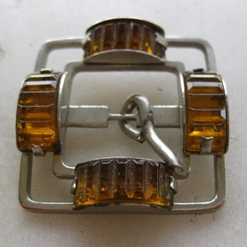 Art deco glass buckle