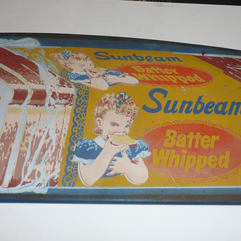 Sunbeam Bread Door Push  - Advertising
