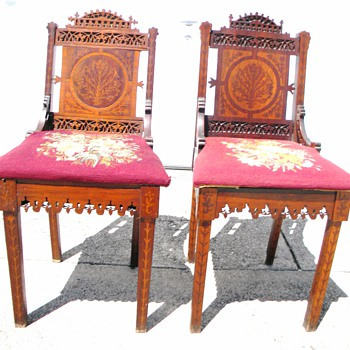 ID These Chairs ? Extream Carving and Inlays