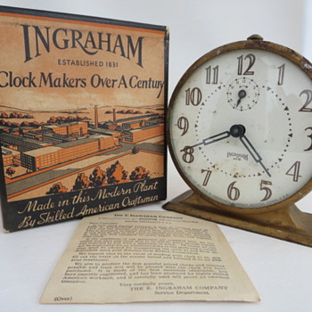 "E. Ingraham ""ACE"" Alarm - Clocks"