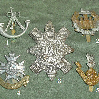 Badges for all 1914 British Line Infantry Regiments, Part 5 - Military and Wartime