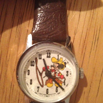 1982 Bradley Cowboy Mickey Mouse Watch - Wristwatches
