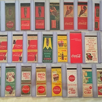 Coca-Cola Matchbooks, 1930s - 1960s