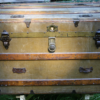 "Curved Top ""Camel back"" Steamer Trunk"