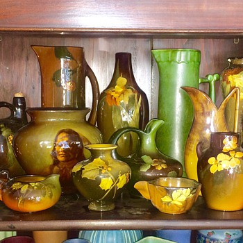 Assortment of Rookwood Pottery Vases from Collectors House - Art Pottery