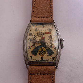 1934 New Haven Popeye Wrist Watch - Wristwatches