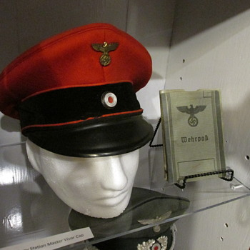 WWII German Railway Station Masters Visor cap