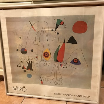 Anyone know about this poster - Joan Miro - Mujer y Pajaros a Punta de Dia - Posters and Prints