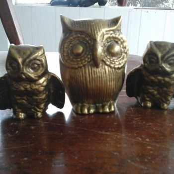 Brass owls - Animals