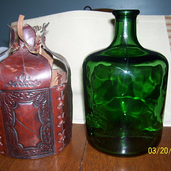 green bottle leather wrap - Bottles