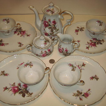 Tea Set with Roses - China and Dinnerware