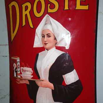 CACAO DROSTE ENAMEL SIGN.PORCELAIN SIGN - Advertising