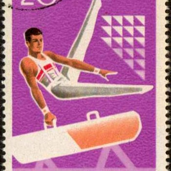 "1977 - Romania ""Gymnastics"" Postage Stamps - Stamps"
