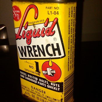 Old Liquid Wrench can - Petroliana